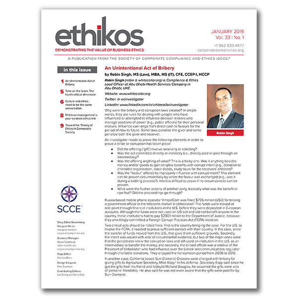 ethikos newsletter