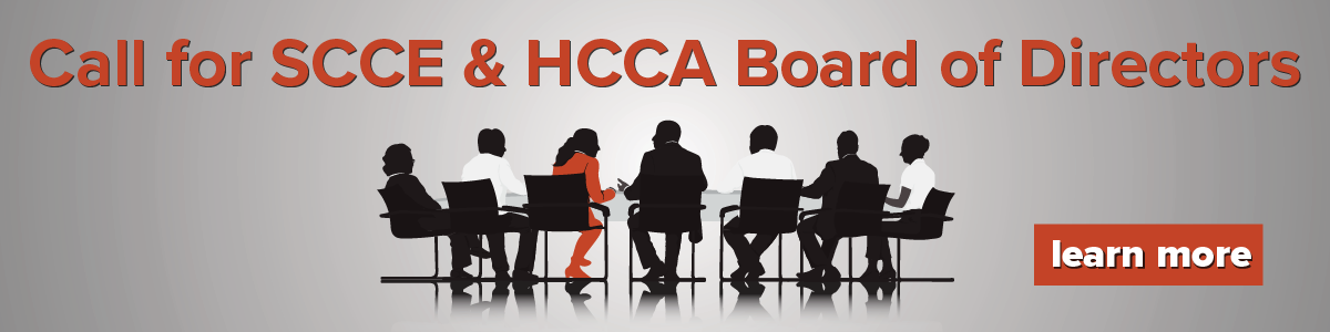 SCCE & HCCA Call For Board Members - Large